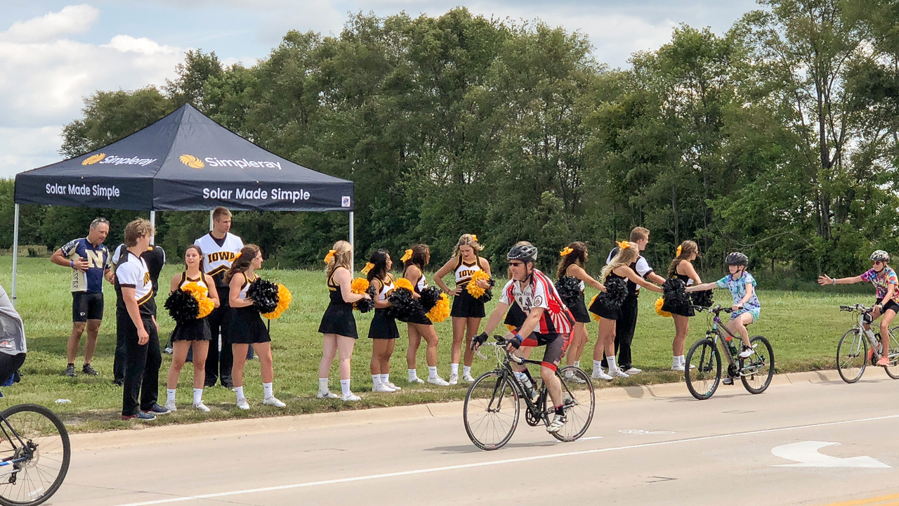 881b367f3 Cheering on the Annual Bike Tour Across Iowa!